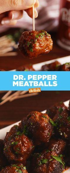 Dr. Pepper Meatballs