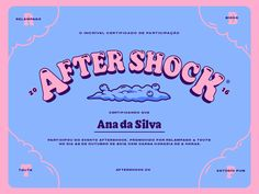 Certificado AfterShock designed by Lebassis for Relâmpago. Connect with them on Dribbble; Graphic Design Posters, Graphic Design Inspiration, Typography Design, Lettering, Retro Graphic Design, Typography Fonts, Graphic Design Illustration, Web Design, Layout Design