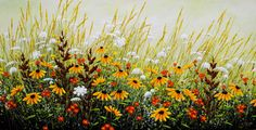 Among the Wildflowers - painting by Jordan Hicks at Crescent Hill Gallery