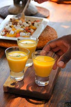 African Safari Recipe. Seba Camp's chilled carrot, ginger and lemongrass soup