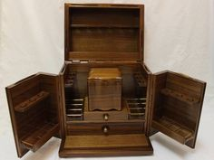 vintage ALFRED DUNHILL Mahogany Wood SMOKERS CABINET Cigar Pipe HUMIDOR Rack