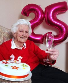 A leap year lady (just like my nan) - although she's 25 today and my nan's only 20. Happy birthday Margaret!