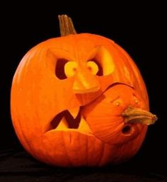 Scary pumpkin carving patterns for kids by TamidP