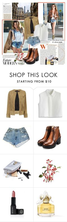 """Early Autumn outfit"" by allhqfashion ❤ liked on Polyvore featuring ThePerfext, Chicwish, Pier 1 Imports, ELF Cosmetics, Marc Jacobs and Bobbi Brown Cosmetics"