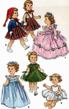 Vintage Doll Clothes PATTERN 1371 for 23 inch Saucy Walker Posie Bonny Braids by Ideal 1950s