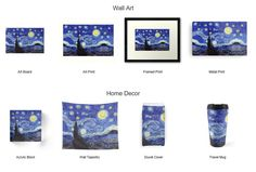 Starry Night Inspired Redbubble Products Apparel, Cases & Skins, Wall Art, Home Décor, Bags, Stationary and More Available