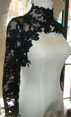 Couture lace bolero ,,, High Fashion, Black lace
