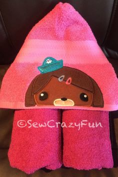 A personal favorite from my Etsy shop https://www.etsy.com/listing/280768844/octonauts-dashi-inspired-hooded-bath