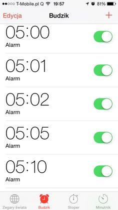 Muszę jutro wstać ok. 5 rano. Co jeszcze mogę zrobić, by być pewnym, że mi się to uda? #problemyXXIwieku   //  Need to wake up at 5am tomorrow. Anything else I could do to make sure I can make it?