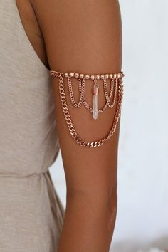 Love this Rose Gold Arm Chain | Boho Chic... But can I pull it off is another story