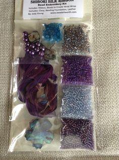 Bead Embroidery Shibori Ribbon Kit by BeyondBeadsGallery on Etsy, $73.95