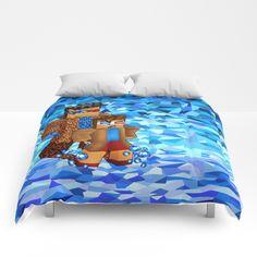8bit boy with 10th Doctor shadow COMFORTERS #comforters #bedroom #room #home #homedecor #tardis #doctorwho #davidtennant #petercapaldi #12thdoctor #10thdoctor #11thdoctor #whedaspopartportrait #8bit #cube #lego #games #creeper #mojang