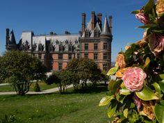 #Bretagne - #Finistere : point de vue, images... du château de #Trevarez (3 photos) © Paul Kerrien - http://toilapol.net #BZH #camelia