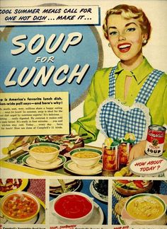 1947 campbell's soup advertisement: