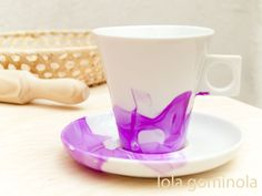 DIY Tazas estampadas con pintau�as Cup Coaster, Arts And Crafts, Diy Crafts, Ideas Para, Projects To Try, Mugs, Tableware, Creative, Blog