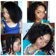 FLAT TWIST OUT ON BLOW DRIED HAIR
