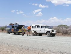 Puncture Repair in Seisfontein, Namibia