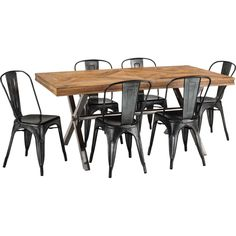 Croxley 1.8m Table with 6 Saxon or fenton mesh Chairs Package $899