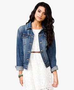 nice dress and could've has chosen a better jean jacket