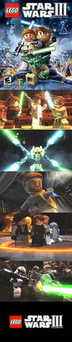 Lego Star Wars III The Clone Wars lets you take on the Empire with the Republic! Lego Droid, Playstation, Xbox, Pc Games, Clone Wars, Lego Star Wars, Legos, Starwars, Video Game