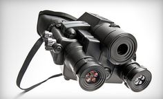 There is a Groupon for this Infrared night-vision binoculars that view up to 50 ft in darkness and store videos in it's internal memory or on a memory stick. Kinda creepy but also tempted to get it for only $35! lol