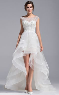 ... Tulle Dentelle Robe de mariée avec Emperler Fleur(s) (002071230