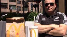 Обзор канадского Mакдональдс и сумасшедшая прохожая в Ванкувере Канада