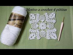 YouTube Crochet Square Patterns, Crochet Stitches Patterns, Crochet Squares, Crochet Motif, Crochet Designs, Crochet Doilies, Crochet Lace, Crochet Cushions, Crochet Tablecloth