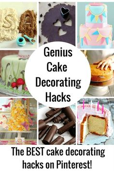 These cake decorating hacks just made baking easy! These easy cake decorating ideas, tips and tricks. will take your baking skills to the next level.