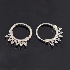 1pc 316L Stainless Steel Hexagonal Flower Septum Clicker Nose Ring Punk GoGo-UK Septum Clicker, 316l Stainless Steel, Flower, Rings, Ebay, Ring, Jewelry Rings, Flowers