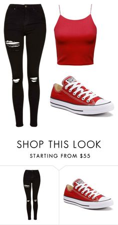 """Untitled #462"" by cuteskyiscute on Polyvore featuring Topshop and Converse"