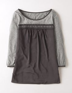 I've spotted this @BodenClothing Broderie Smock Top Pewter/Grey Marl