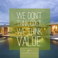 We don't think cost we think Value. #luxury #luxurylifestyle #conciergerealtybrokers #realestate #miamirealestate