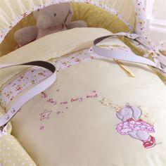 Humphrey's Corner Lottie Fairy Princess Moses Basket Bedding Dressing Set