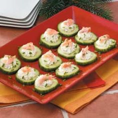 Smoked Salmon Cucumbers This was easy and good! I used a 3 oz. package of the smoked salmon.