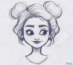 » hair flow » art » drawing » inspiration » illustration » artsy » sketch » pinterest » design » expression » faces »