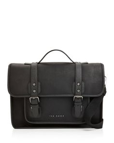 Ted Baker Honkar Faux Leather Messenger Bag