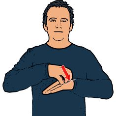 Cake - Clawed hand rests on top of flat hand (palm down). British Sign Language (BSL)