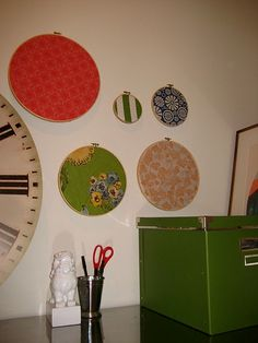 DIY Bulletin Boards made from Embroidery Hoops and Corkboard