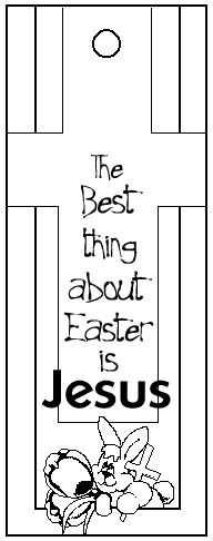 Print and color, then cut out this Easter bookmark