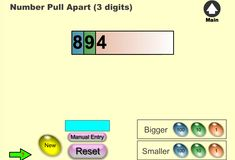 Integers, Place Values, Pull Apart, Separate