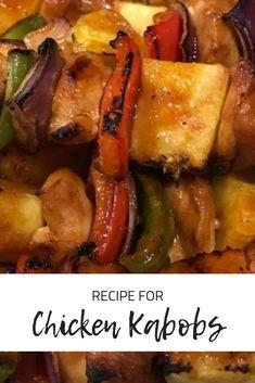 Chicken Kabob Recipe | Easy Chicken Kabobs | #chickenkabobs #chickenkabobsonthegrill #chickenkabobmarinade #
