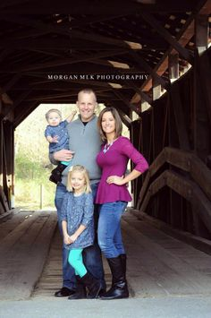 Family pictures Morgan MLK Photography covered bridge