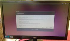 Aquí vemos el tipo e instalación que queremos utilizar para el ubuntu