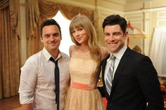 Taylor Swift joins the guys for a group shot!