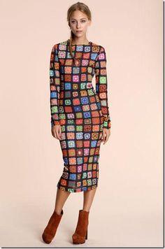 inspiration:  House Of Holland crochet patterned dress