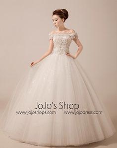 1e55e56bf439a Off Shoulder Debutante Ball Gown with Scallop Lace Edge | MX5015. Long Wedding  DressesFormal ...
