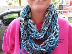 Crochet Fashionable Infinity Scarf by JensNeedleKnows on Etsy