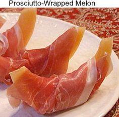 Prosciutto-Wrapped Melon #Italian #appetizer #recipe