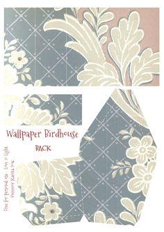 Wings of Whimsy: Wallpaper Birdhouse No 18 Back #vintage #ephemera #freebie…